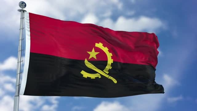 Angola Flag Animation: Stock Motion Graphics