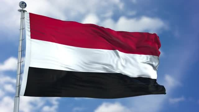 Yemen Flag Animation: Stock Motion Graphics