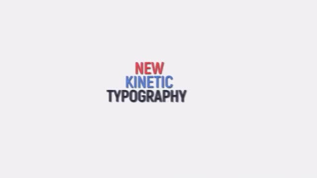 Kinetic Typography : Motion Graphics Templates