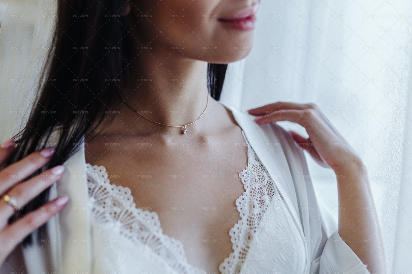 Woman With Necklace: Stock Photos
