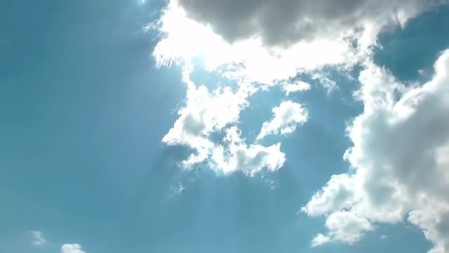 Blue Sky With Cumulus Clouds: Stock Video