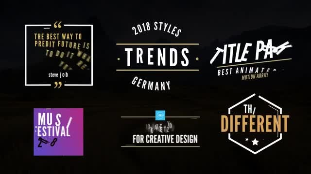 8 Titles Pack : After Effects Templates