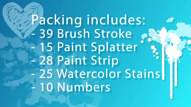 WaterColor Pack (117): After Effects Templates