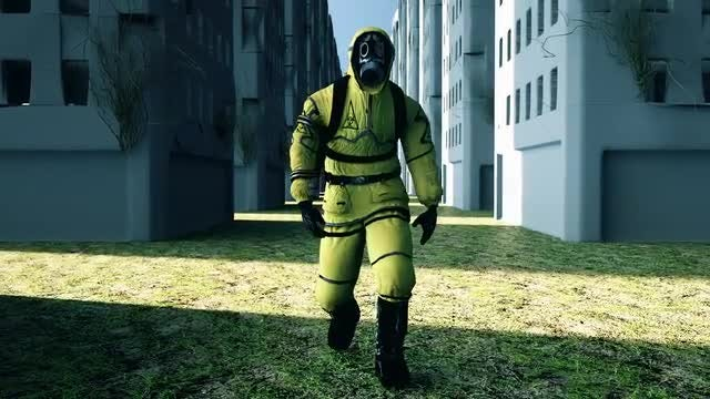Man with Gas Mask: Stock Motion Graphics