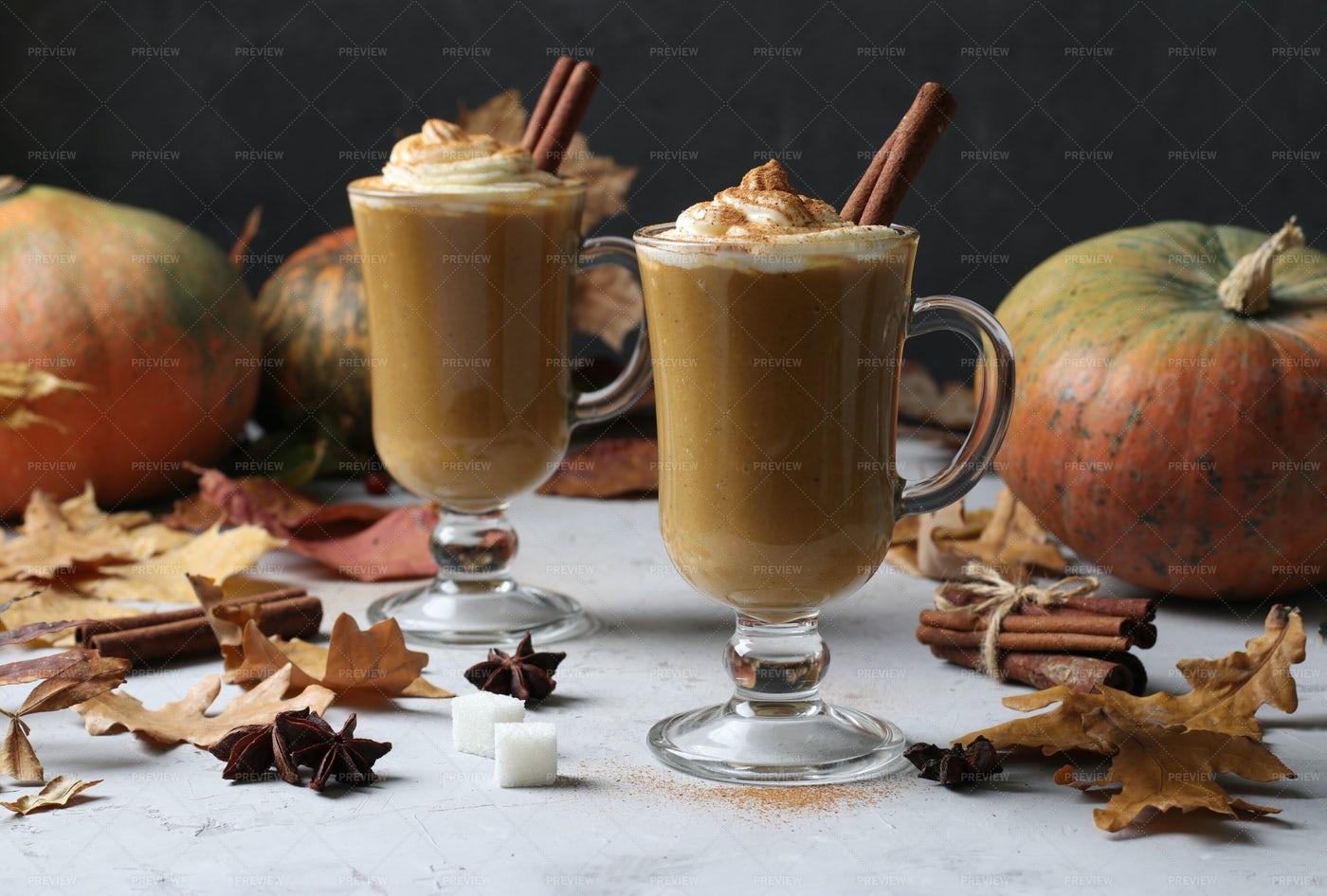 Pumpkin Latte: Stock Photos