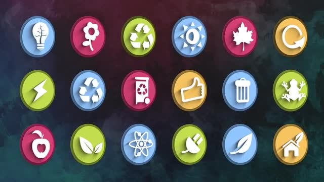 Ultimate Ecology Icons Pack: Stock Motion Graphics