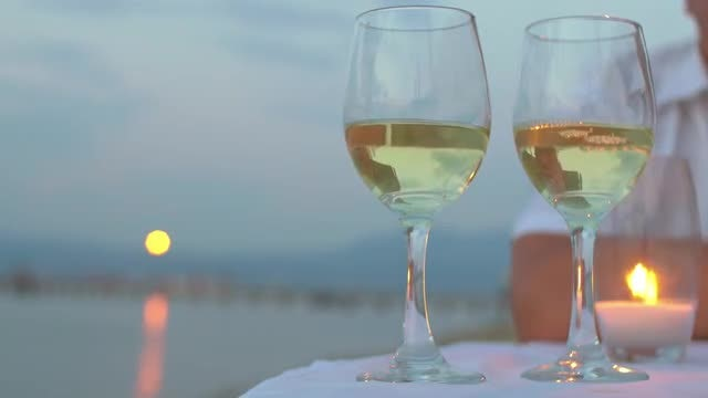 Pouring Wine In Glasses : Stock Video