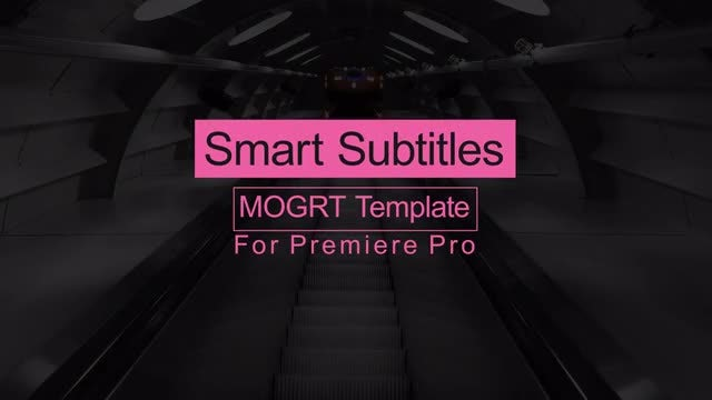 Smart Subtitles: Motion Graphics Templates
