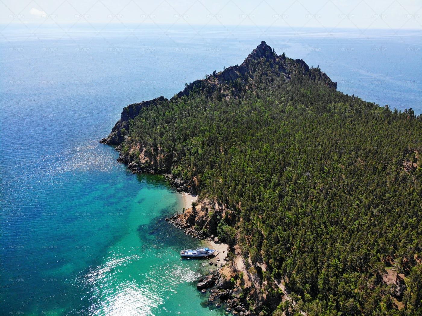 Lake Baikal In Summer: Stock Photos