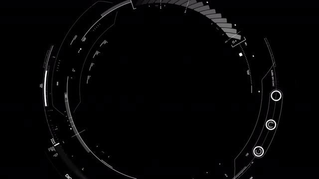 Circular HUD Display: Stock Motion Graphics