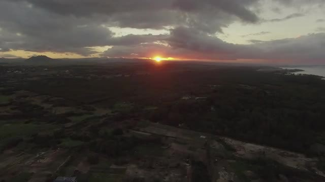 Sunset Over Mauritius Island: Stock Video