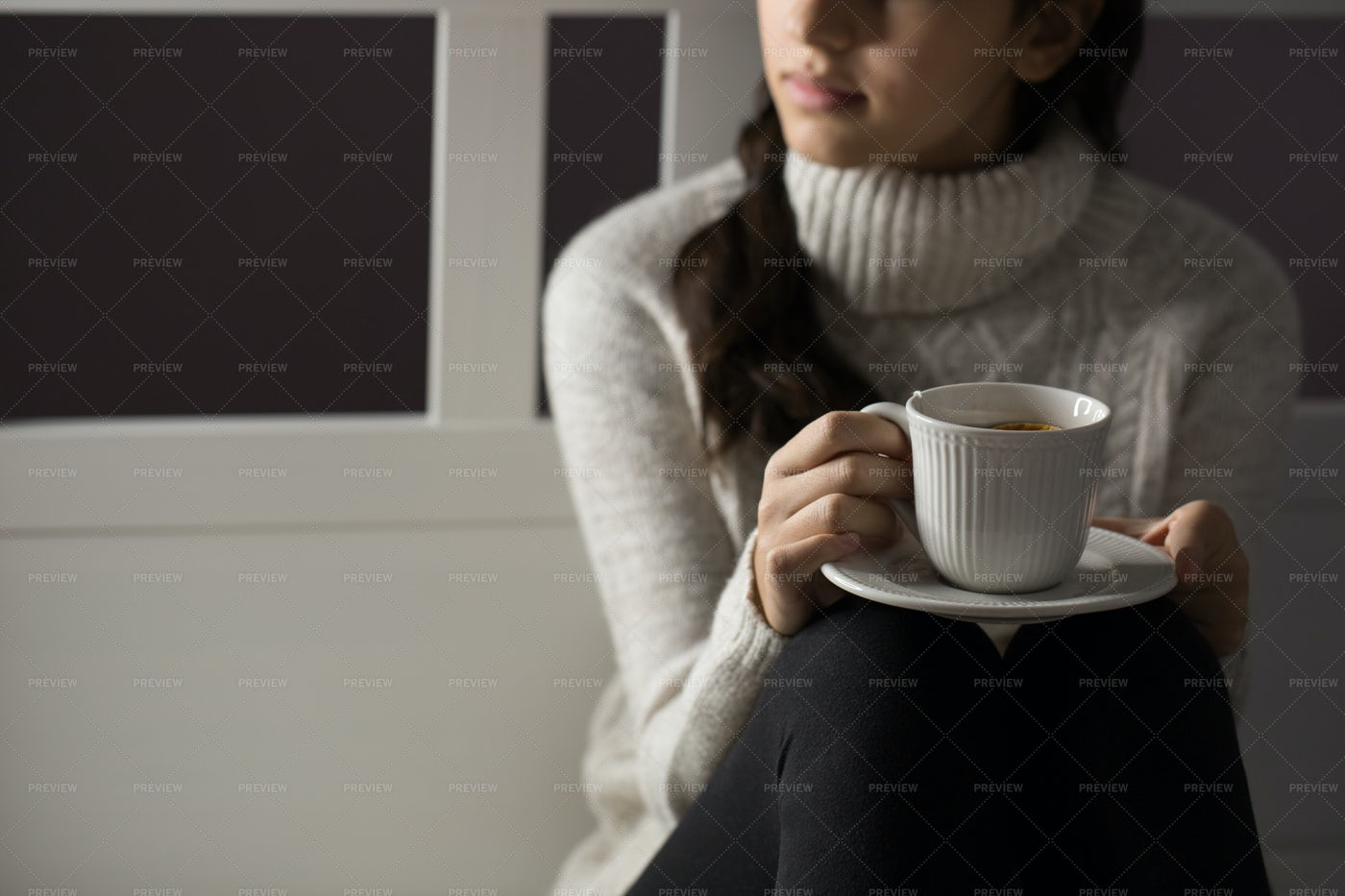Holding A Cup Of Tea: Stock Photos