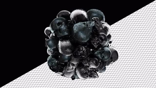 Ball Of Pulsating Skulls: Stock Motion Graphics