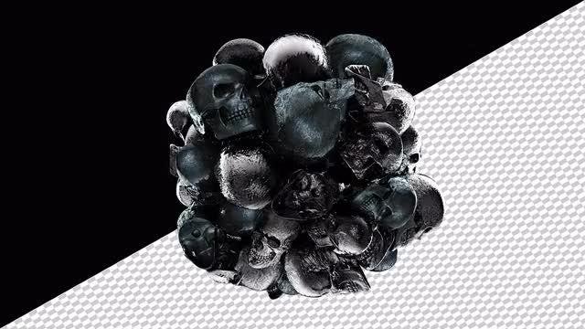 Ball Of Pulsating Skulls: Stock Motion Graphics