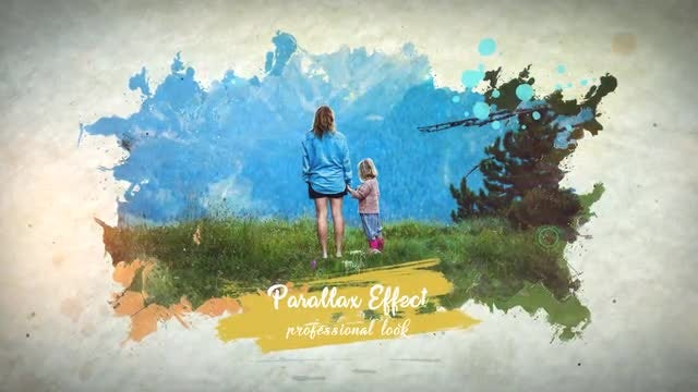 Ink & Watercolor Slideshow: After Effects Templates