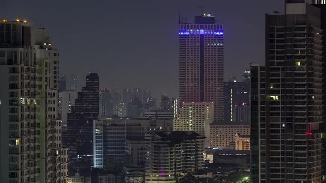 Lights On-Off In Urban Bangkok: Stock Video