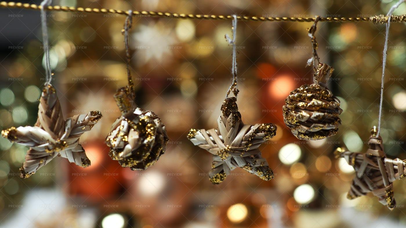 Rustic Christmas Decorations: Stock Photos