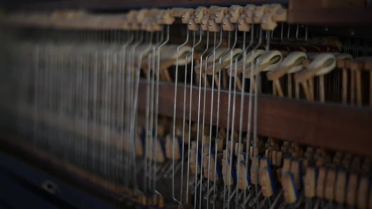 Old Piano Mechanism: Stock Video
