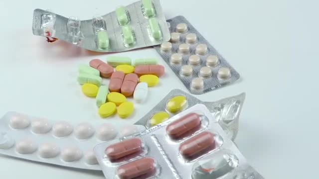 Medical Drugs And Tablets: Stock Video
