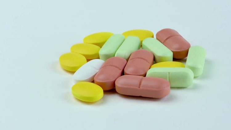 Colored Prescription Tablets On Display: Stock Video
