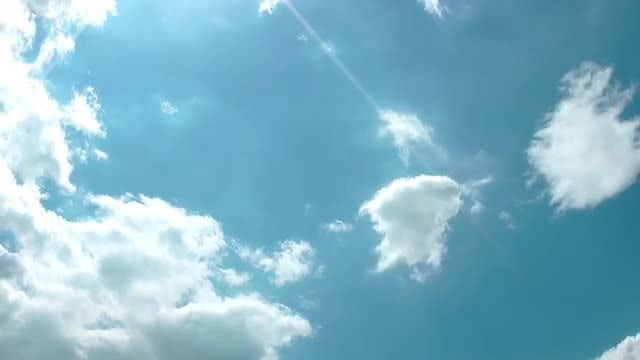 Clouds Moving On Clear Sky: Stock Video