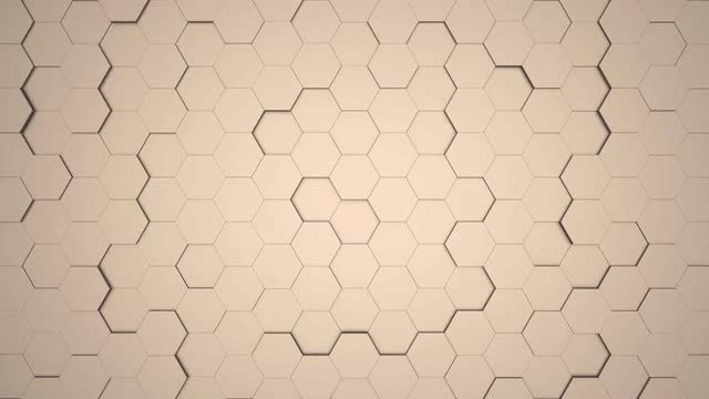 3D Hexagon Background: Stock Motion Graphics