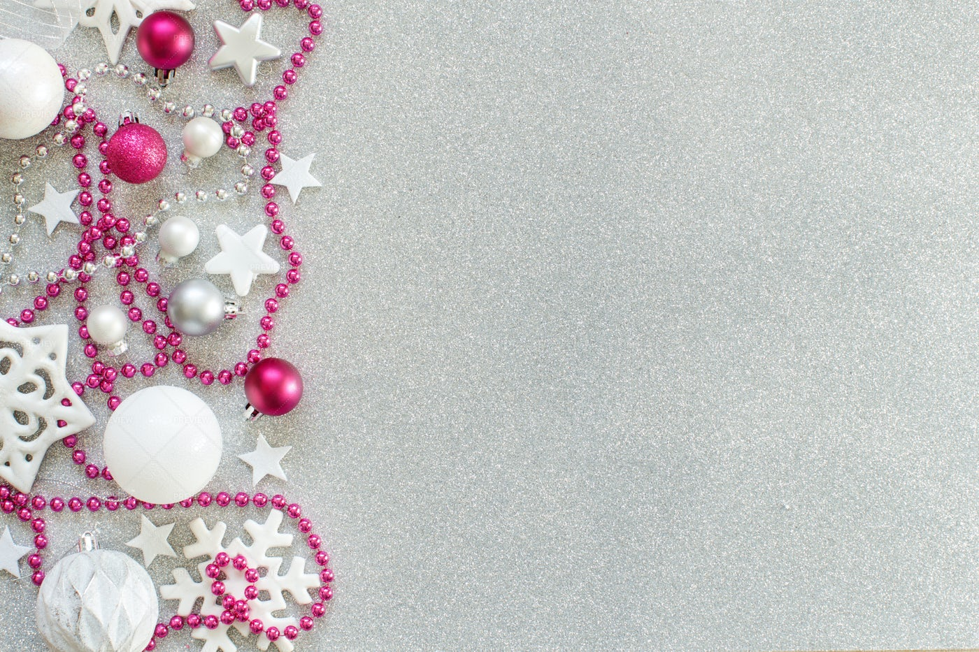 White And Pink Decorations: Stock Photos