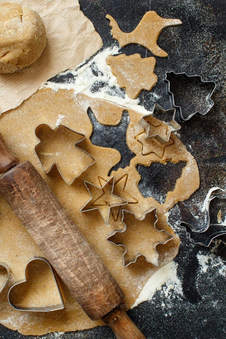 Making Christmas Cookies: Stock Photos