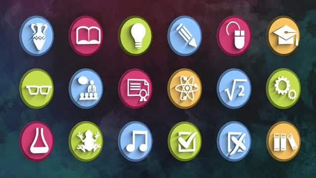 Ultimate Education Icons Pack: Stock Motion Graphics