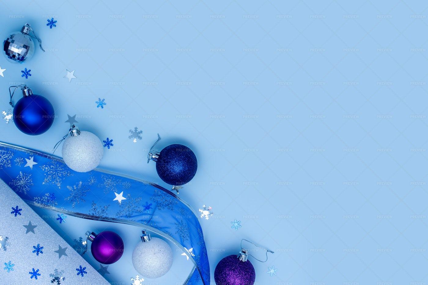 Blue Christmas Background.: Stock Photos
