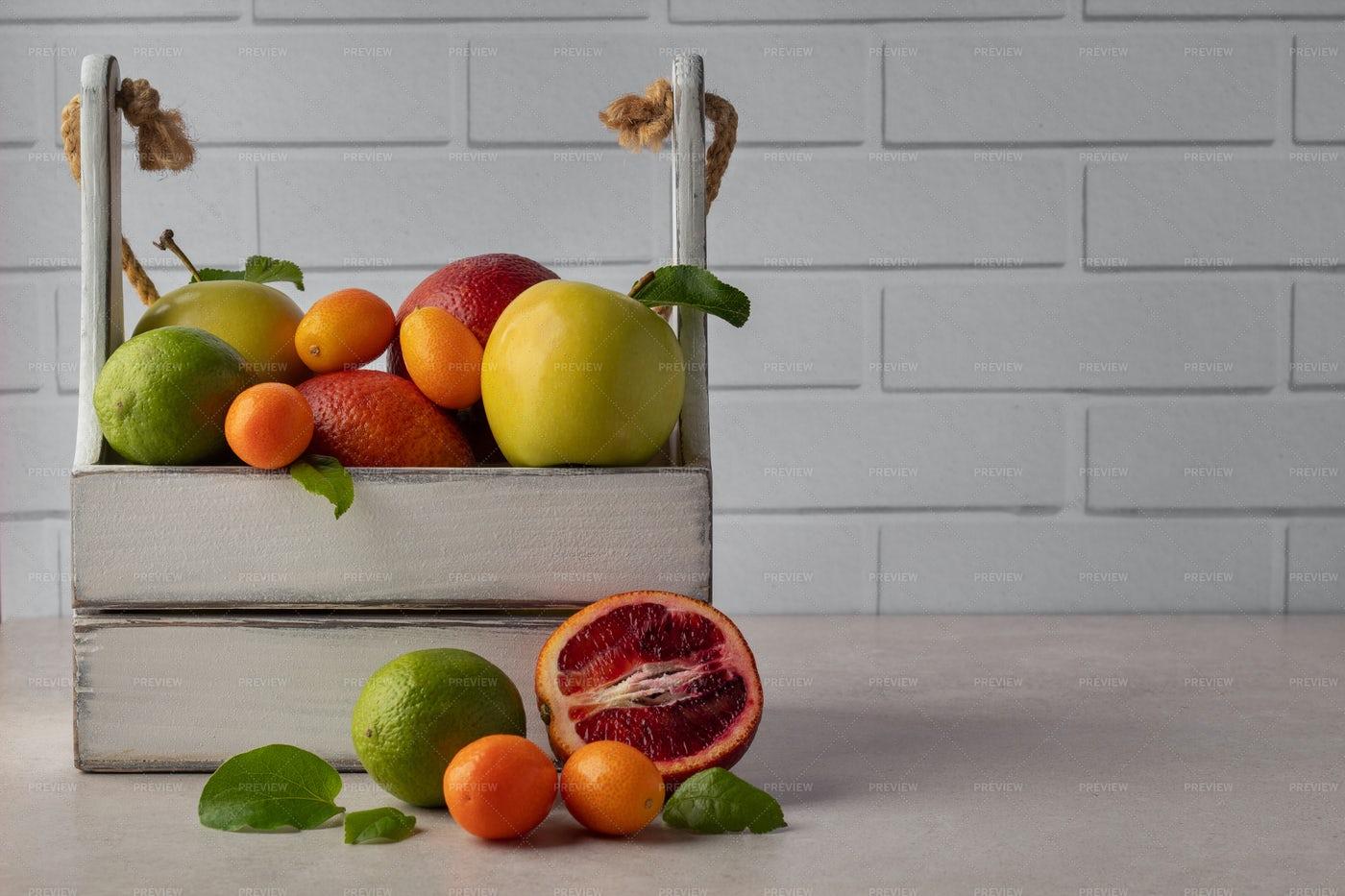 Assortment Of Tropical Fruits: Stock Photos
