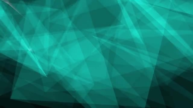 Aqua Polygonal Background: Stock Motion Graphics