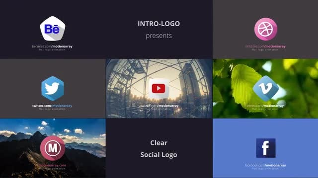 Clear Social Logo: After Effects Templates