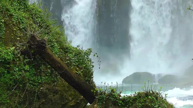 Large Waterfall In The Jungle: Stock Video