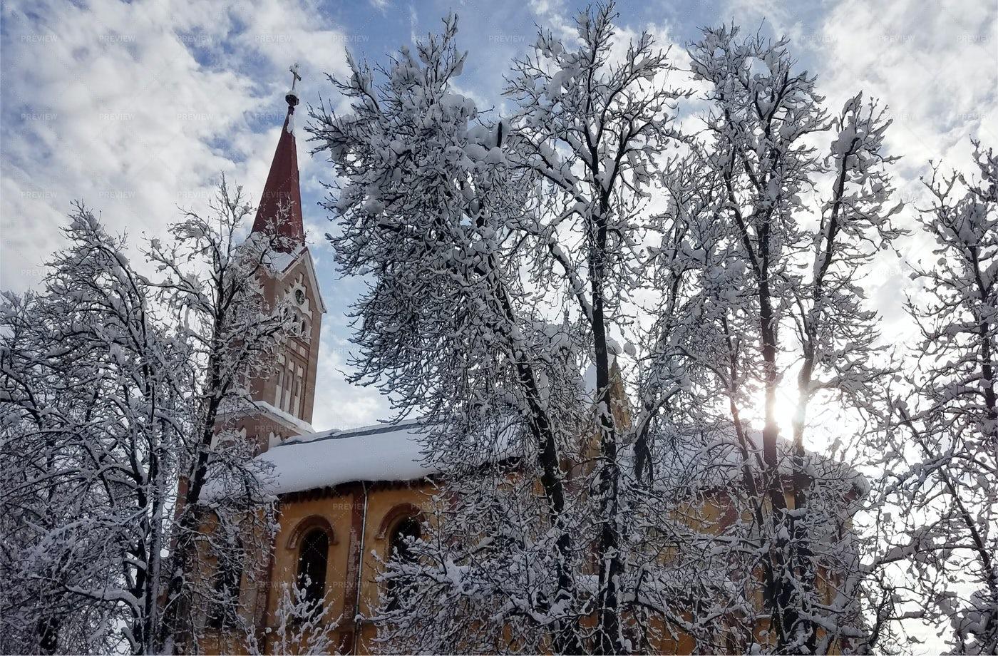 Church In Winter: Stock Photos