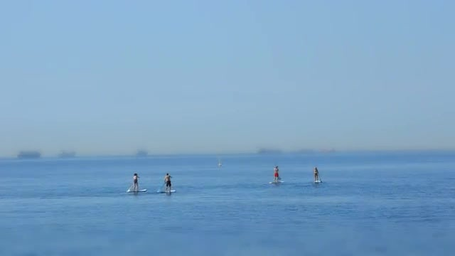 People On Paddle Boards: Stock Video