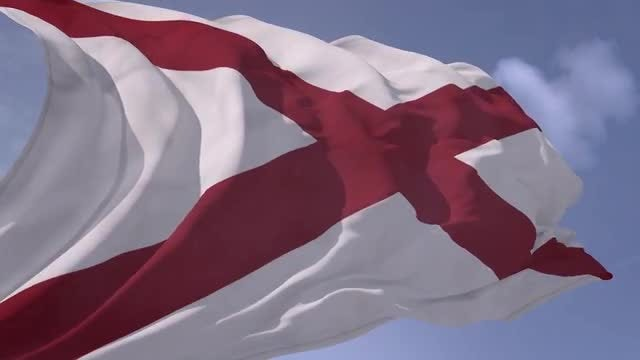 Alabama Flag Animation: Stock Motion Graphics