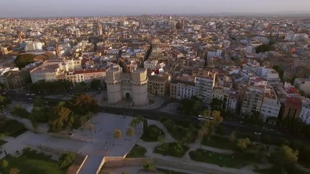 Aerial View Of Valencia : Stock Video