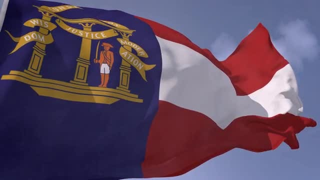 Flag Of Georgia (U.S. State): Stock Motion Graphics