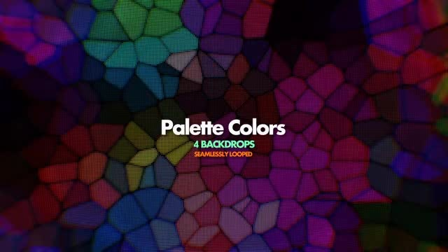 Palette Colors Mosaic: Stock Motion Graphics