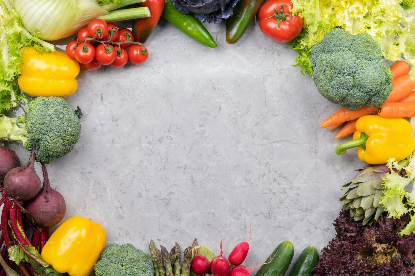 Vegetables Background Frame: Stock Photos