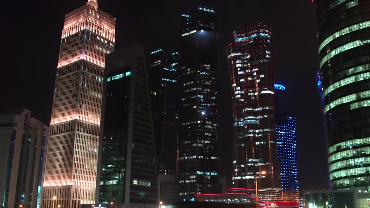 Time Lapse Of Tall Buildings: Stock Video