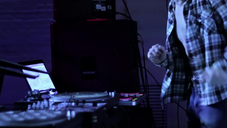 DJ Dancing At Work : Stock Video