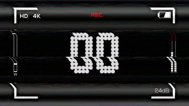 Distorted VHS Countdown: Stock Motion Graphics
