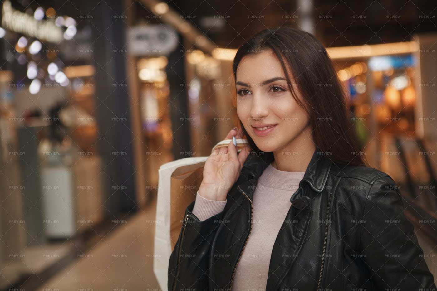 Woman At Shopping Mall: Stock Photos