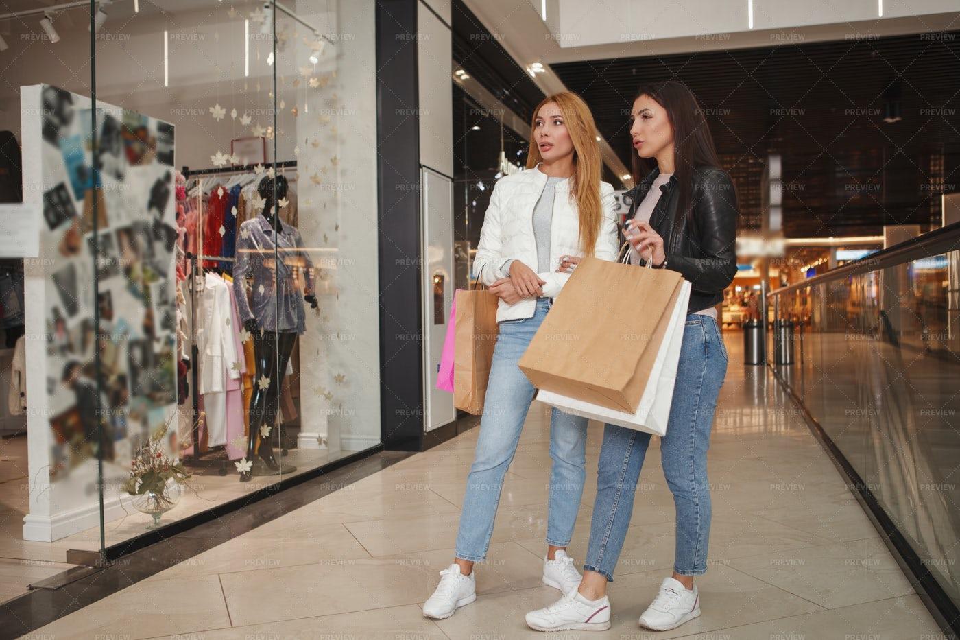 Women On Shopping Spree: Stock Photos
