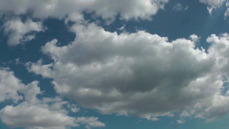 White Clouds On Blue Sky: Stock Video