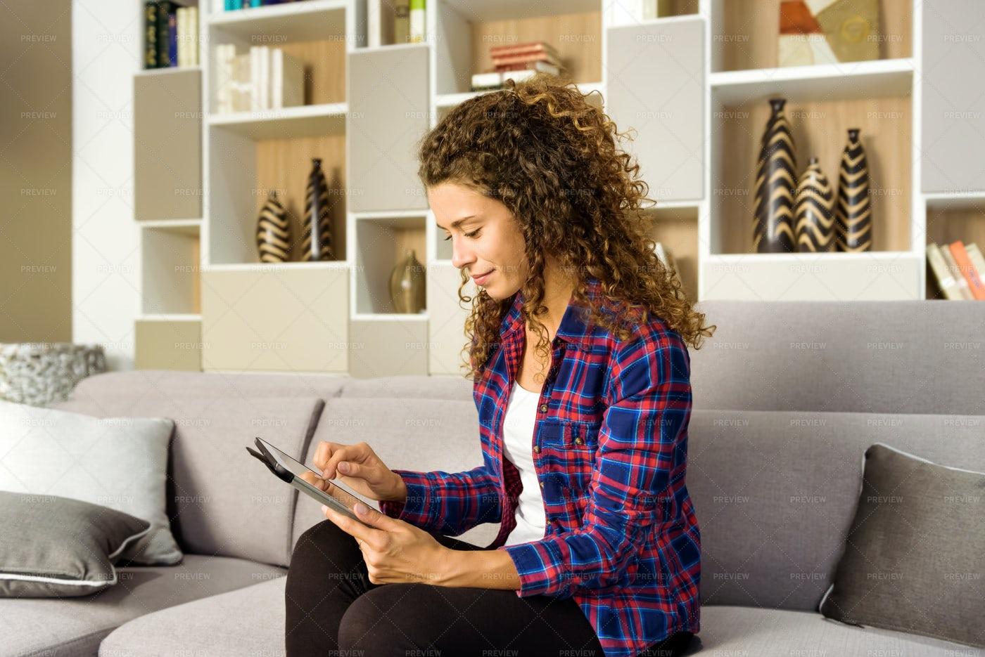 Woman Using A Tablet: Stock Photos