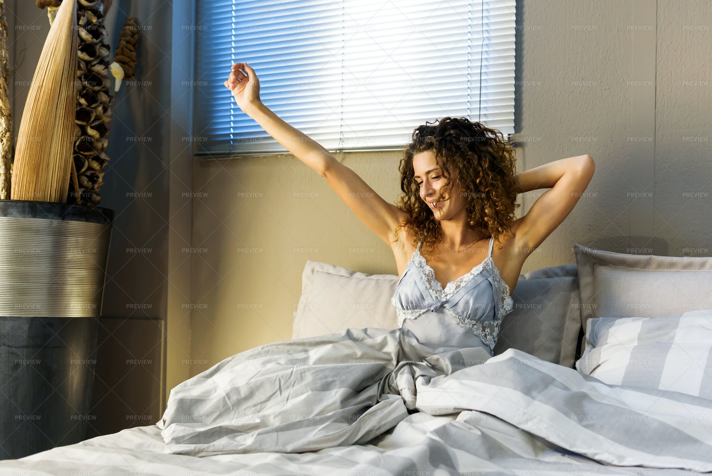 Young Woman Waking Up: Stock Photos