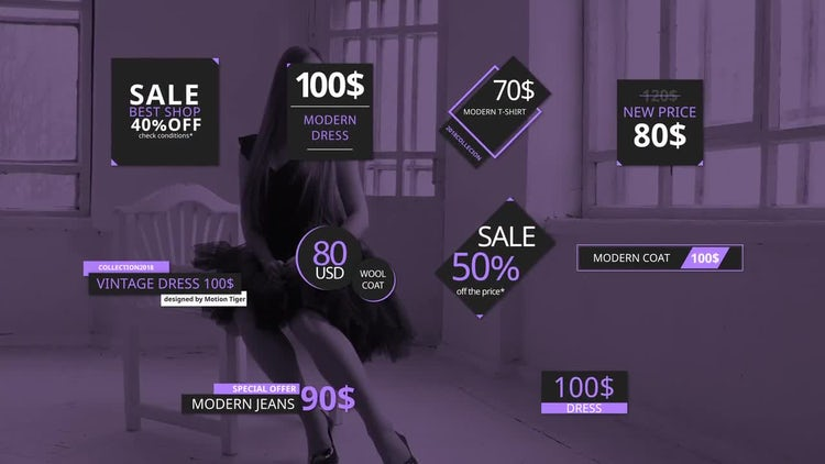 Price Tags And Titles: Motion Graphics Templates